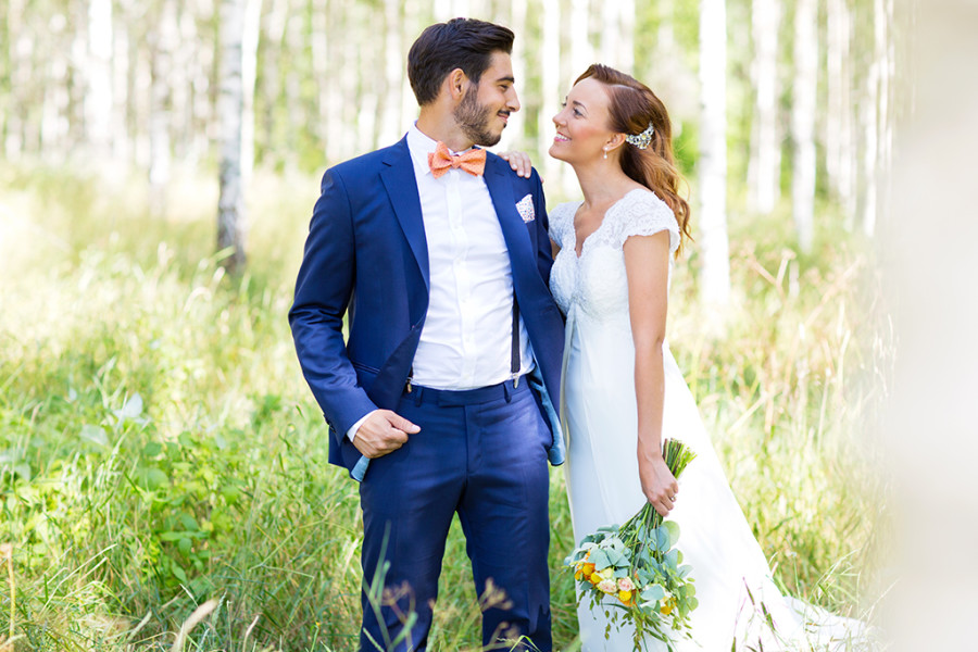 Bröllopsklädsel till brudgummen