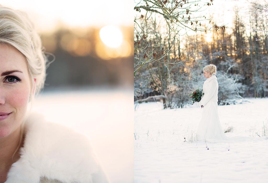 bröllopsfotograf emmelifoto vinterbrud