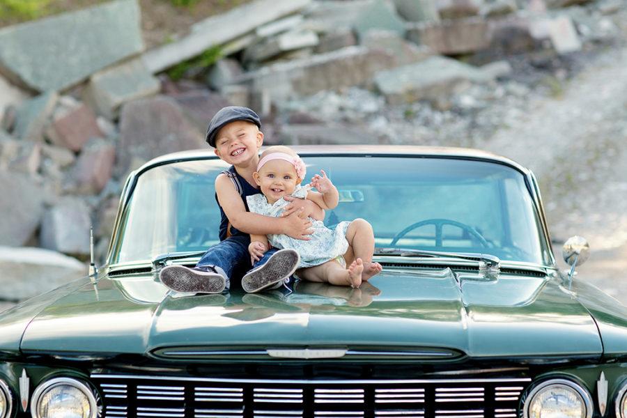 Fotograf i Vadstena med Rockabilly tema