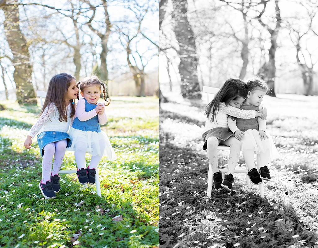 Emmelifoto barnfotografering vitsippor familjefotografering vårfotografering Motala Vadstena Linköping