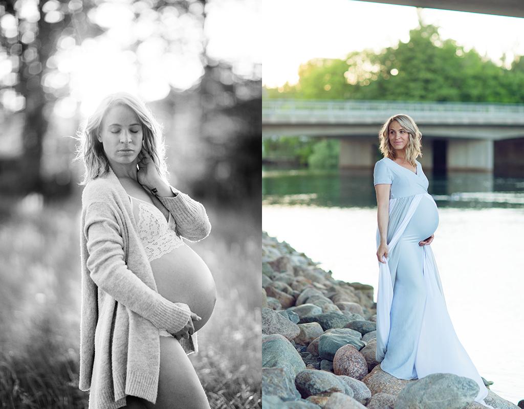 Gravidfotografering en sommarkväll med mycket skratt och många känslor